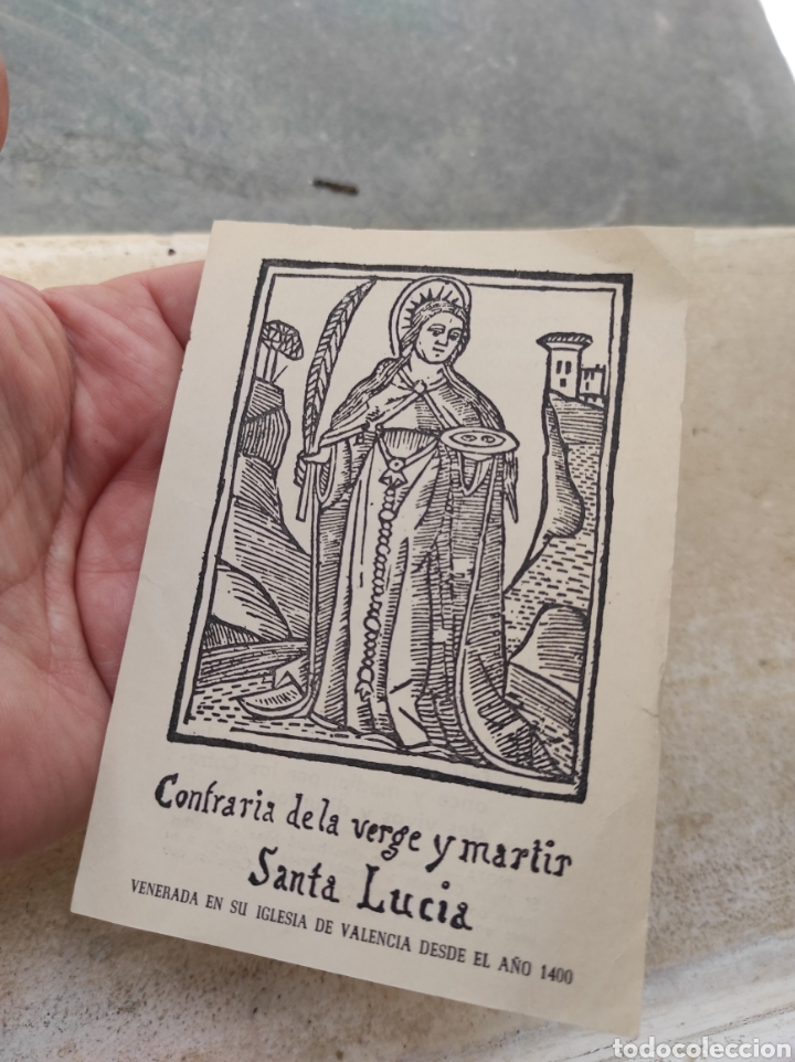 Postales: Estampa Religiosa - Oración - Cofradía de la Verge y Mártir Santa Lucía - Valencia - - Foto 2 - 254454435