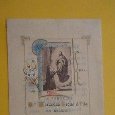 Postales: RECUERDO PROFESION RELIGIOSA.MERCEDES CROUS E ILLA.MARIA DE LA PROTECCION.MANRESA 1898. Lote 255918375