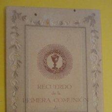 Postales: RECUERDO PRIMERA COMUNION.FRANCISCA SUBIRONS BORRAS.SAN ANDRES.BARCELONA 1931. Lote 255919635