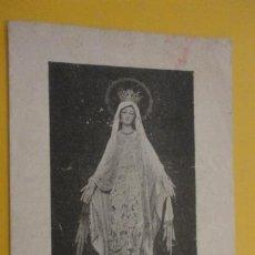 Postales: RECUERDO BESAMANO.VIRGEN MEDALLA MILAGROSA.CONSTANTINA 1947.. Lote 255920355