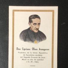 Postales: ESTAMPITA , RECORDATORIO DON CIPRIANO OLASO ARANGUREN , PAMPLONA .. Lote 256043635