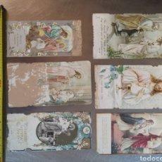 Postales: 6 ESTAMPITAS RECORDATORIOS DE 1920S. DE CORNELLÀ DEL LLOBREGAT. ALGUNAS EN MAL ESTADO. Lote 257555195