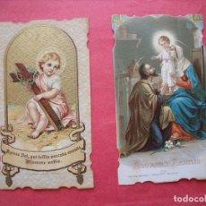 Postales: ESTAMPAS RELIGIOSAS.-PLEGARIA.-ORACION.-ESTAMPAS RELIGIOSAS DEL SIGLO XIX.-AÑOS 1898-1899.. Lote 260573020