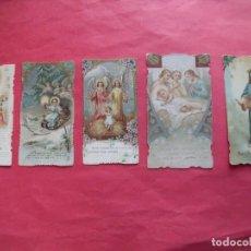 Postales: ESTAMPAS RELIGIOSAS.-PRIMERA COMUNION.-ORACION.-LOTE DE 5 ESTAMPAS RELIGIOSAS MUY ANTIGUAS.. Lote 261670920