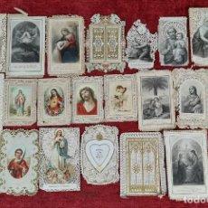 Postales: COLECCION DE 19 ESTAMPAS RELIGIOSAS. GRABADO SOBRE PAPEL. SIGLO XIX.. Lote 261684840