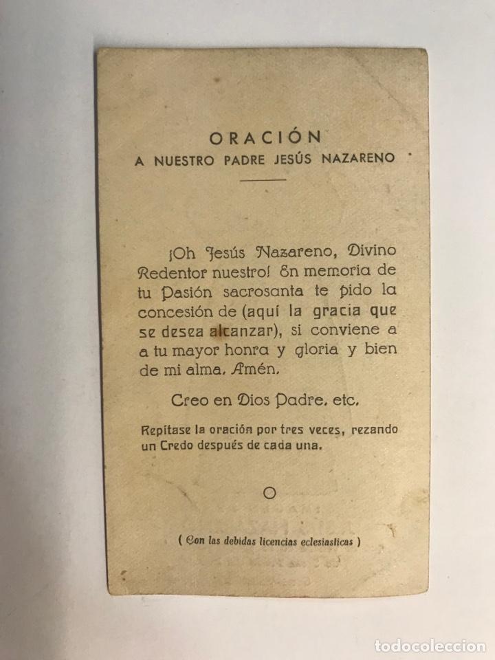 Postales: ESTAMPA de Jesus Nazareno, que se venera en la iglesia de Santa Maria del Mar GRAO - VALENCIA - Foto 2 - 262155000