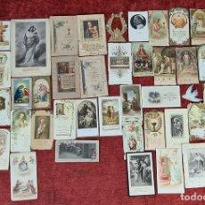 Postales: COLECCION DE 47 ESTAMPAS RELIGIOSAS EN COLOR. SIGLO XIX-XX.. Lote 262181520