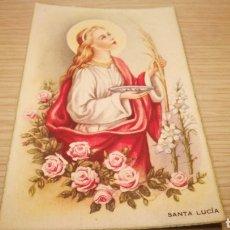 Postales: ANTIGUA TARJETA POSTAL RELIGIOSA - SANTA LUCÍA. Lote 262296385