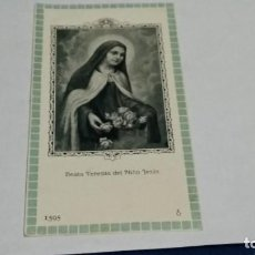 Cartes Postales: ESTAMPA RELIGIOSA ANTIGUA ( BEATA TERESITA DEL NIÑO JESUS ). Lote 262317415