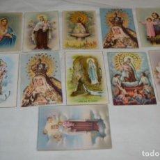 Postales: 11 POSTALES ANTIGUAS / IMÁGENES RELIGIOSAS / ALGUNAS CON DETALLES BRILLANTINA - ¡MIRA FOTOS! LOTE 02. Lote 262396640