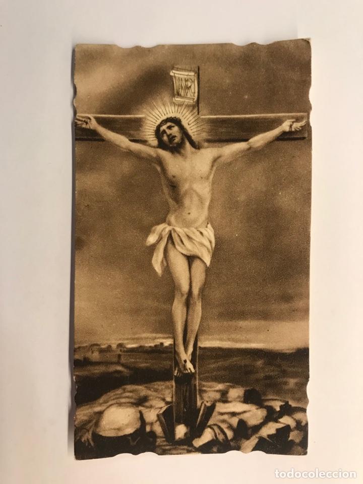 HOSPITALET. ESTAMPA RECORDATORIO. BENDICION DE LA IMAGEN DE CRISTO CRUCIFICADO (A.1940?) (Postales - Postales Temáticas - Religiosas y Recordatorios)