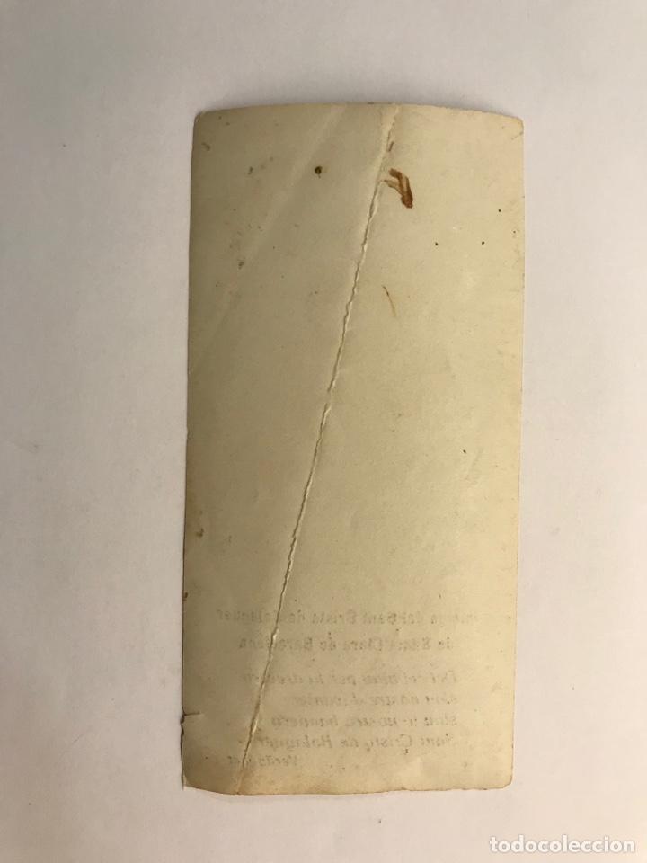 Postales: BARCELONA. Imatge del Sant Cristo de Balaguer de Santa Clara (h.1930?) - Foto 2 - 262810310