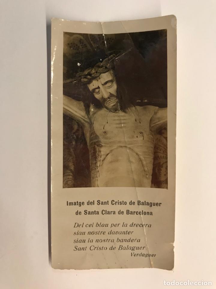 BARCELONA. IMATGE DEL SANT CRISTO DE BALAGUER DE SANTA CLARA (H.1930?) (Postales - Postales Temáticas - Religiosas y Recordatorios)