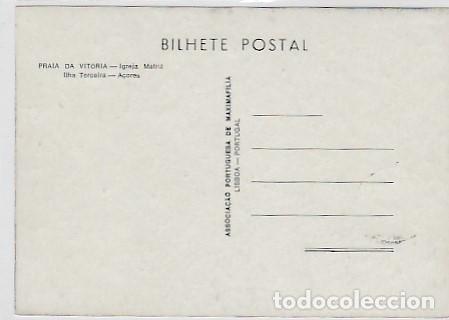 Postales: Portugal & Maxi, Azores, Isla Terceira, Praia da Vitória, Igreja Matriz 1980 (6686) - Foto 2 - 262810420