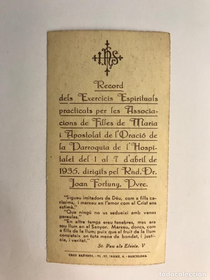 Postales: RÉCORD DELS EXERCICIS ESPIRITUALS DE LES FILLES DE MARIA L'HOPITALET (a.1935) - Foto 2 - 262813465