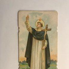 Postales: SAN VICENTE FERRER. ESTAMPA RELIGIOSA TROQUELADA (H.1920?). Lote 262886035