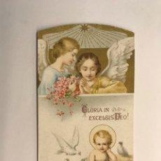 Postales: GLORIA IN EXCELSIS DEO. ESTAMPA RELIGIOSA TROQUELADA (H.1930?). Lote 262886460