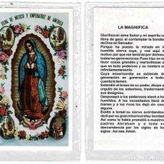 Postales: ESTAMPA VIRGEN DE GUADALUPE CON ORACIÓN. PLASTIFICADA. Lote 263206675