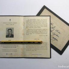 Postales: ALFAFAR VALENCIA, ESQUELA OBITUARIO Y SOBRE. PARROQUIA DE NTRA. SRA. DEL DON DE ALFAFAR (A.1946). Lote 263219295