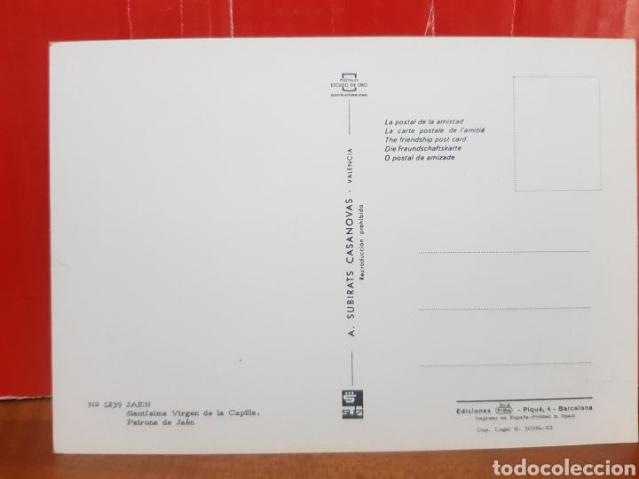 Postales: POSTAL - JAÉN SANTISIMA VIRGEN DE LA CAPILLA N°1239 ESCUDO DE ORO - Foto 2 - 264523469