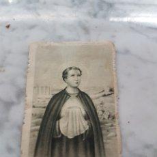 Postales: ESTAMPA SAN TARCISIO PRIMER MÁRTIR DE LA EUCARISTÍA 1955. Lote 265212349