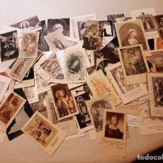 Postales: LOTE 100 ESTAMPAS RELIGIOSAS ANTIGUAS. Lote 265360129