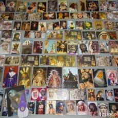 Postales: LOTE COLECCIÓN DE MÁS DE 300 RECORDATORIOS RELIGIOSOS. SEMANA SANTA SEVILLA. FOTOS ESTAMPAS. 350GR. Lote 268836829