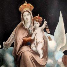 Postales: LÁMINA RELIGIOSA EN PAPEL DE LA VIRGEN DEL CARMEN Y LAS ALMAS EN EL PURGATORIO. Lote 269158508