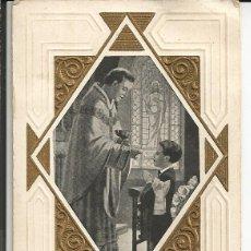 Postales: RECORDATORIO COMUNIÓN DIPTICO, BARCELONA 1934. Lote 269214653