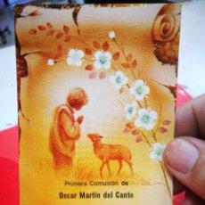 Postales: RECORDATORIO PRIMERA COMUNIÓN ÓSCAR MARTÍN DEL CANTO 1978 BARACALDO CAPILLA MARÍA AUXILIADORA P. P.. Lote 269292493