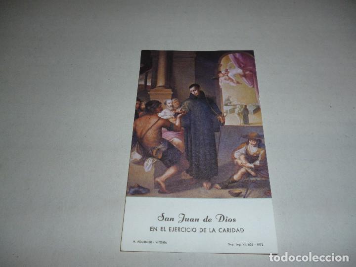 ESTAMPA SAN JUAN DE DIOS - H FOURNIER - VITORIA - REVERSO BLANCO - 11 CMTS ALTO - (Postales - Postales Temáticas - Religiosas y Recordatorios)