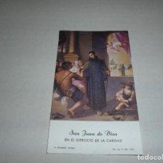 Postales: ESTAMPA SAN JUAN DE DIOS - H FOURNIER - VITORIA - REVERSO BLANCO - 11 CMTS ALTO -. Lote 269738873