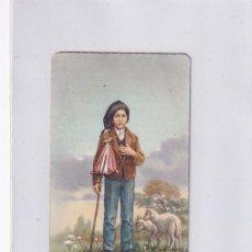 Cartes Postales: ESTAMPA FRANCISCO APARICIÓN VIRGEN DE FÁTIMA CON RELIQUIA. 10 X 6 CM. Lote 269837153