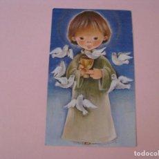 Cartes Postales: RECORDATORIO DE LA PRIMERA COMUNIÓN. IL. ROSER PUIG. SABADELL MARRON 01.01032.2. 1975 MALAGA.. Lote 269951923
