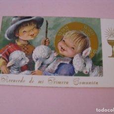 Cartes Postales: RECORDATORIO DE LA PRIMERA COMUNIÓN. IL. CONSTANZA. ED. C. Y Z. EPOCA/E C-382. MALAGA 1964. 10X6 CM.. Lote 269954563
