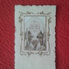 Postales: TARJETA ESTAMPA RELIGIOSA RECORDATORIO RELIGIOSO RECUERDO PRIMERA COMUNIÓN 1927 TIP. MAHONESA JHS.... Lote 269998288
