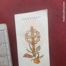 Postales: ESTAMPA CON RELIQUIA. FLORES DE GETHSEMANE, TIERRA SANTA. Lote 270380798