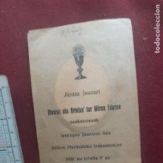 Postales: ESTAMPA EN EUSKERA. 1928. Lote 270381008