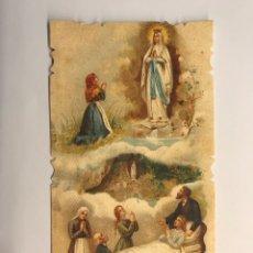 Postales: ESTAMPA RELIGIOSA TROQUELADA. SALVE INFIRMORUM, ORA PRO NOBIS… (H.1930?). Lote 270645068