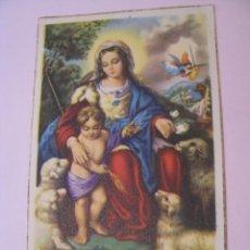 Postales: ESTAMPA RELIGIOSA. DIVINA PASTORA DE LAS ALMAS. 11X7 CM.. Lote 271672903
