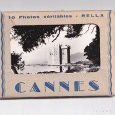 Postales: 10 POSTALES CANNES PHOTOS VERITABLES RELLA - AÑOS 30- CARTES POSTALES ANCIENNES. Lote 272892273