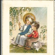 Cartes Postales: RECORDATORIO COMUNIÓN *FERRÁNDIZ* - VILANOVA Y GELTRÚ 1957. Lote 274000023