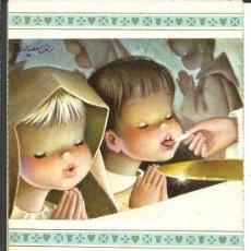 Cartes Postales: RECORDATORIO COMUNIÓN *FERRÁNDIZ* - ESGLESIA JOSEPETS VILANOVA Y GELTRÚ 1962. Lote 274000338
