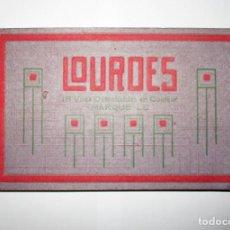 Postales: 18 POSTALES EN COLOR DEL SANTUARIO DE LOURDES. MARQUE LL. AÑOS 20.. Lote 275997133