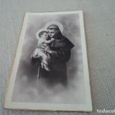 Postales: ANTIGUA POSTAL SAN ANTONIO DE PADUA, 14 X 9 CM BORDES DORADOS. Lote 276455238