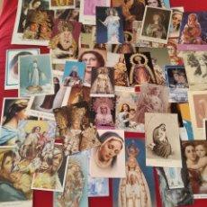 Postales: LOTE 50 ESTAMPAS RELIGIOSAS VIRGENES. Lote 276501883
