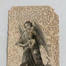 Postales: ANTIGUA POSTAL RELIGIOSA DE PUNTILLA O FILIGRANA.. Lote 276643583