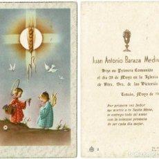 Postales: RECUERDO PRIMERA COMUNIÓN. TETUÁN 1960. Lote 277103468