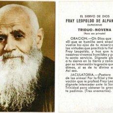 Postales: ESTAMPA DE FRAY LEOPOLDO DE ALPANDEIRE TRIDUO-NOVENA. Lote 277103583