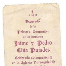 Postais: IGLESIA PARROQUIAL SAN ROQUE DE CALACEITE TERUEL 1947 ESTAMPA 1ª COMUNION. Lote 277235028